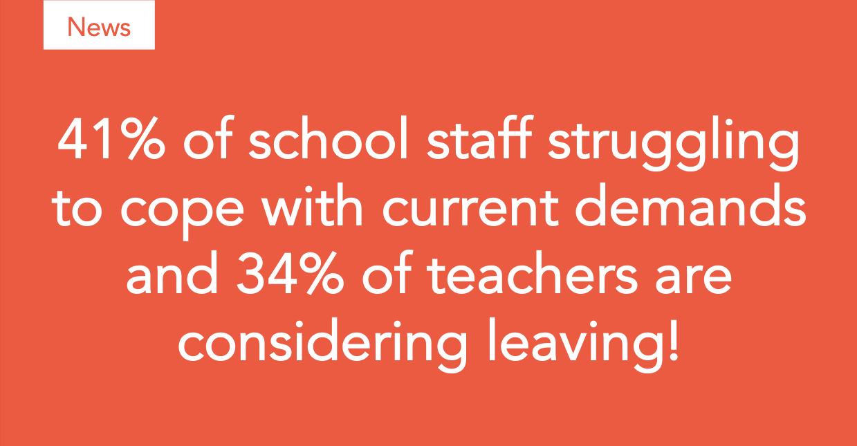 Cause for concern over unbearable stress felt by teachers